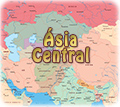 Mapa Asia Central